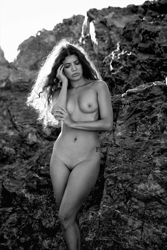 rocks artistic nude photo by model beatrice morgana