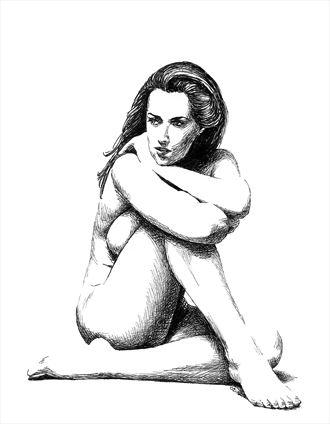 rosa pensive artistic nude artwork by artist subhankar biswas