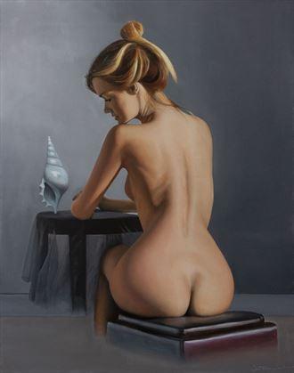 rostellariella delicatula artistic nude artwork by artist jean pierre leclercq