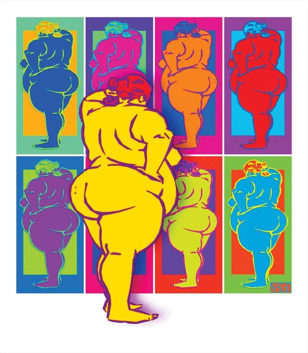 rotundity artistic nude artwork by artist van evan fuller
