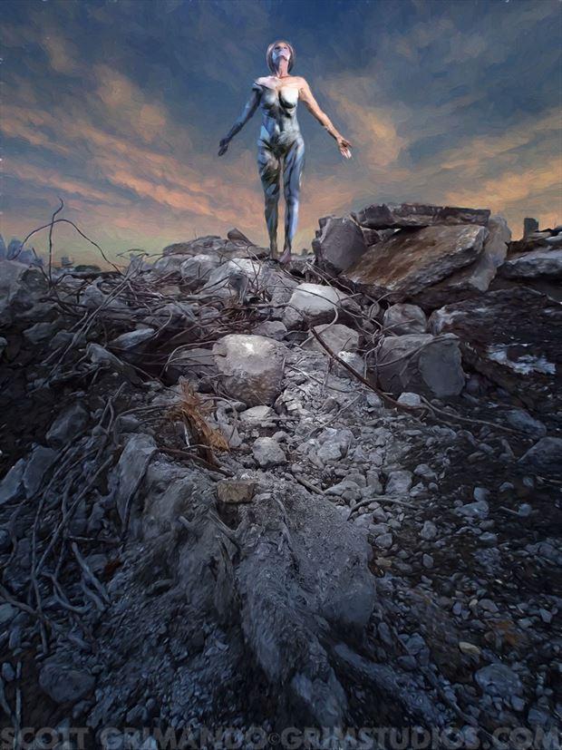 ruins of forgotten gods surreal photo by artist scott grimando