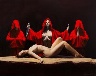 sacrifice erotic artwork by artist jean pierre leclercq