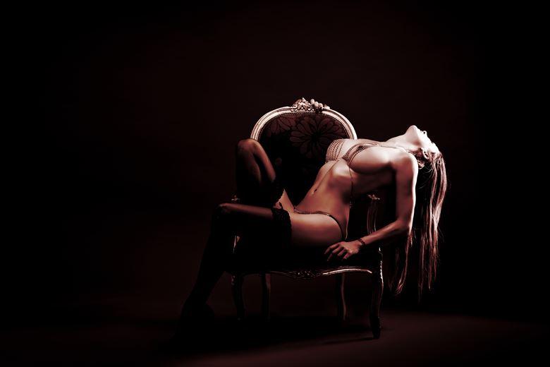 sam in bronze artistic nude photo by photographer paul davies