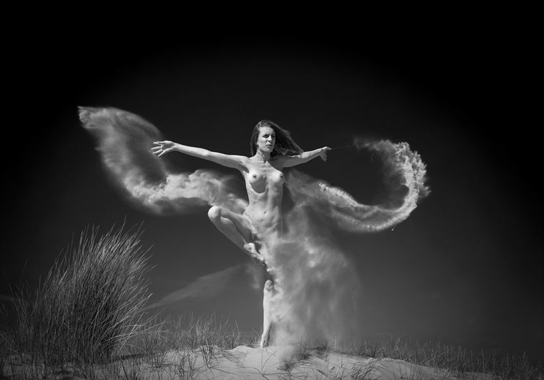 sand butterfly artistic nude photo by photographer louis sauter