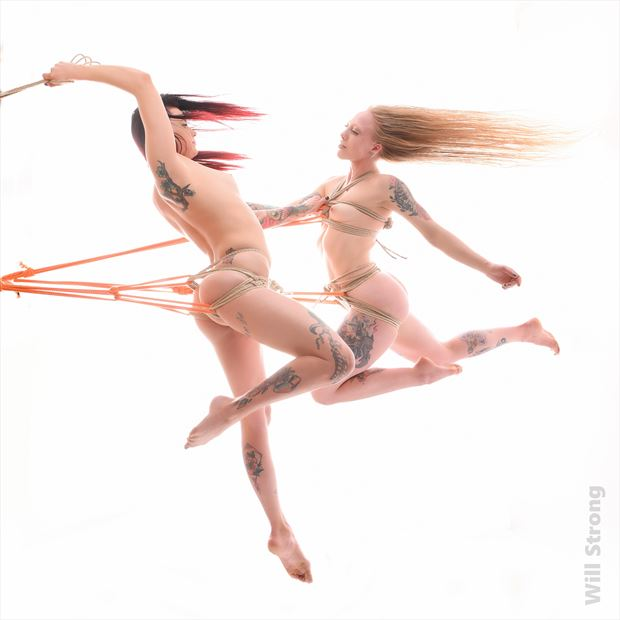 sasha and hailey suspended artistic nude photo by photographer yb2normal