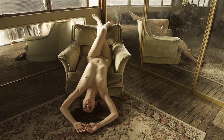 saskia reclining reflections artistic nude photo by photographer pgl05