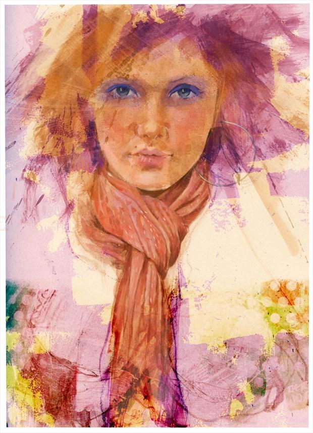 scarf Digital Artwork by Artist JonD