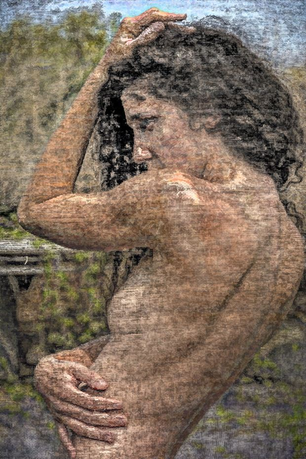 screened artistic nude photo by photographer philip turner