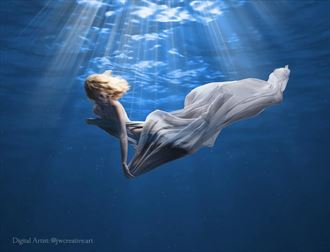 sea dancer implied nude photo by artist jay dub