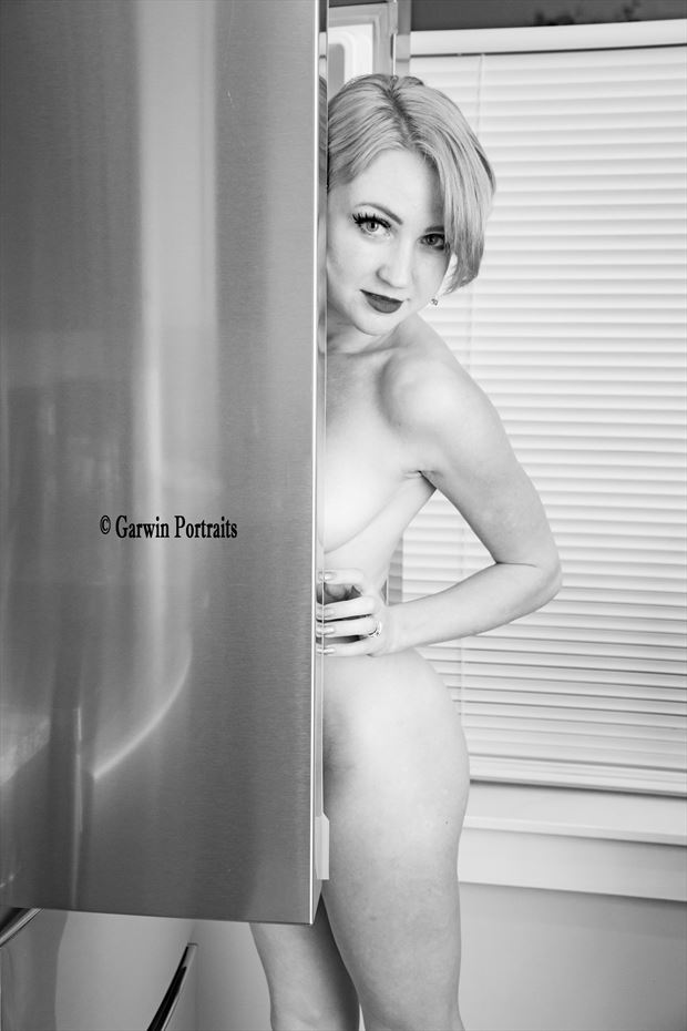 searching for a snack sensual photo by model cali laine