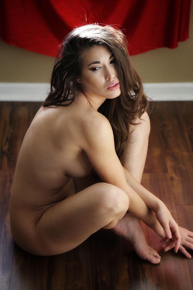 seated artistic nude photo by photographer ashleephotog