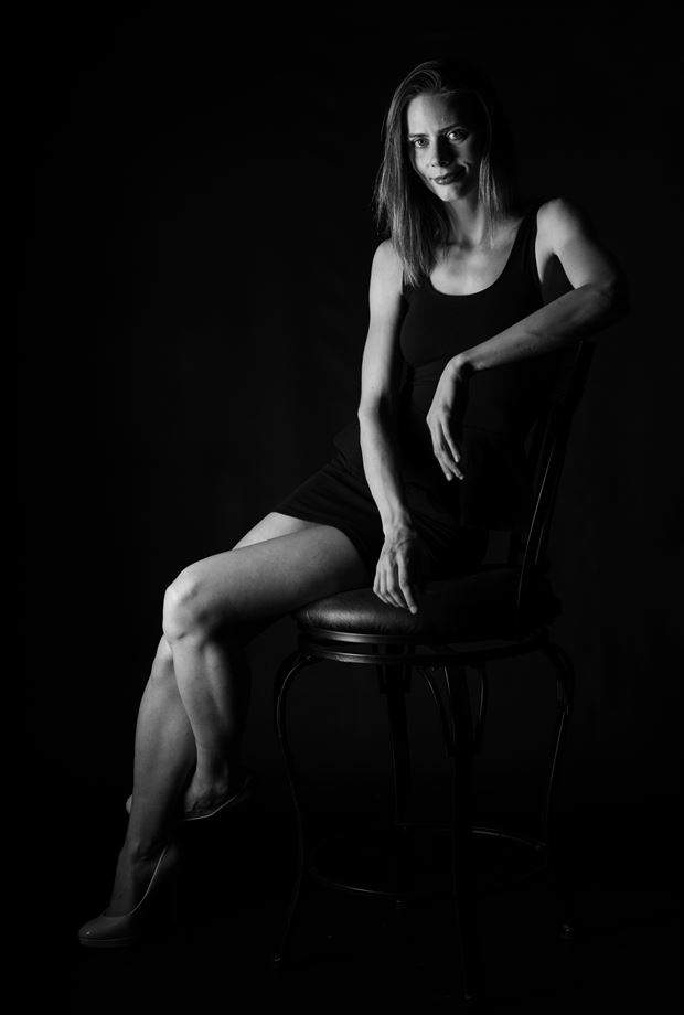 seated in black dress fashion artwork by photographer gsphotoguy