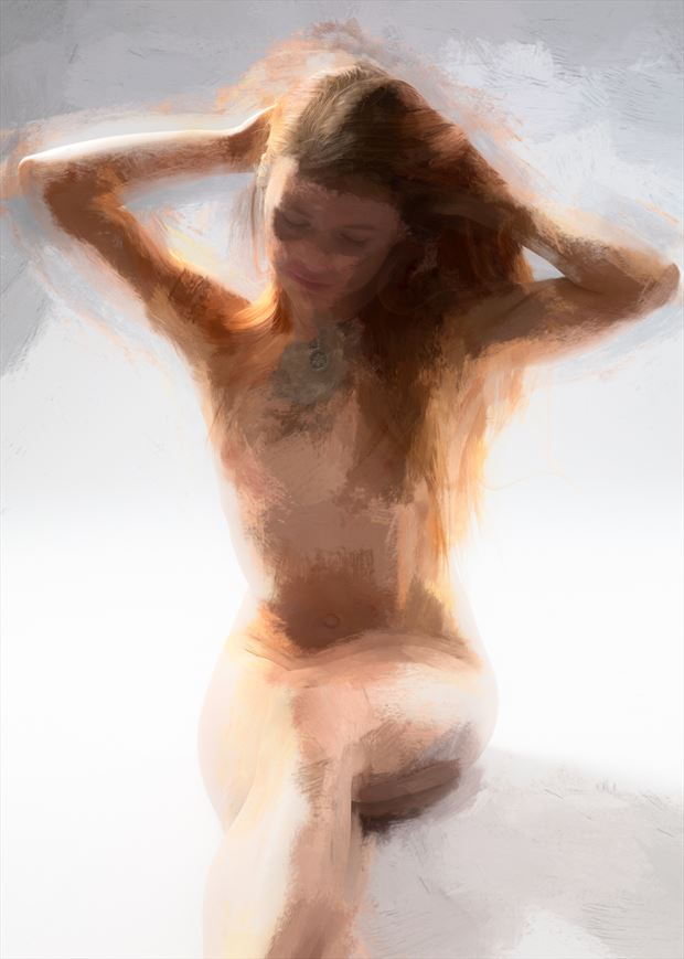 seated nude artistic nude artwork by photographer imageguy