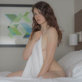 seated on bed sensual photo by photographer stange art