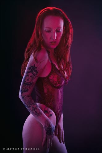 seeing red tattoos photo by model amy scott