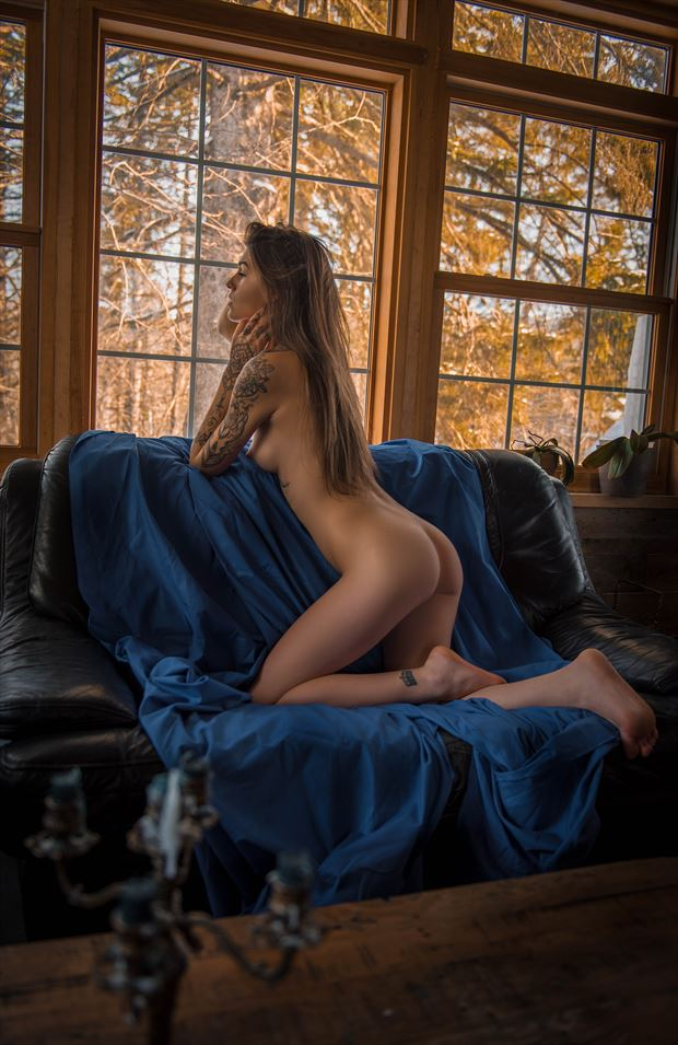 selena at tyhe window artistic nude artwork by photographer dystopix photo