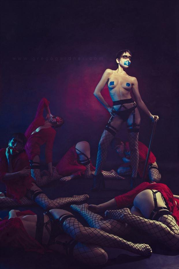 self censored surreal photo by model melancholic