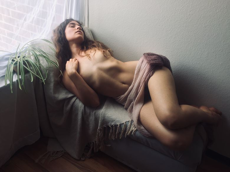 self portrait artistic nude photo by model meghan claire