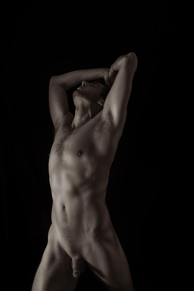 self portrait artistic nude photo by photographer art studios huck