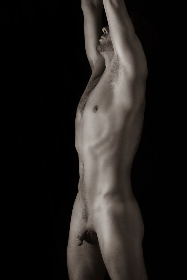 self portrait bodyscape ish artistic nude photo by photographer art studios huck
