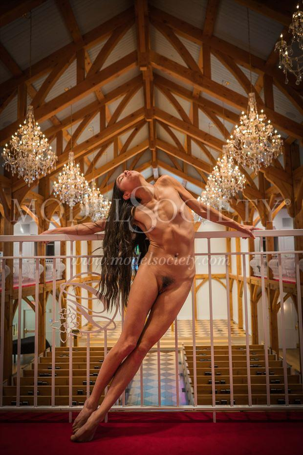 self portrait in chapel artistic nude photo by model prana machine