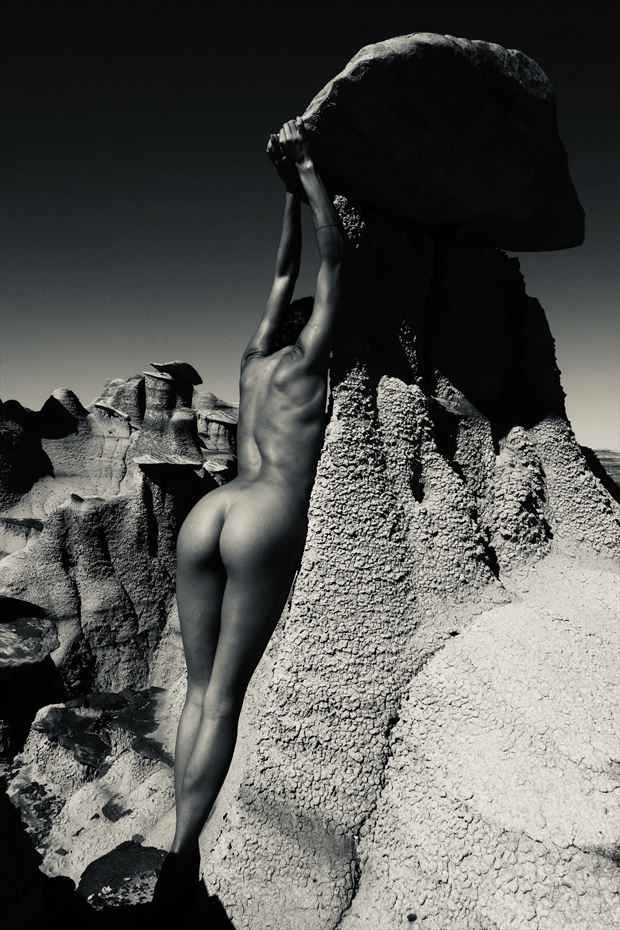 self portrait in new mexico artistic nude photo by model prana machine