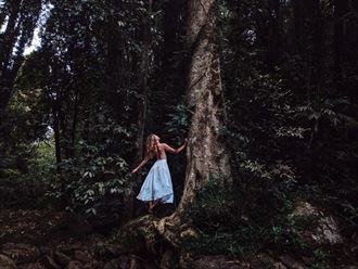 self portrait nature photo by model riley jade