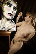 self portrait shadow self artistic nude photo by photographer mykel moon