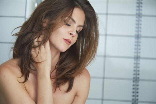 sensual expressive portrait photo by model helen troy