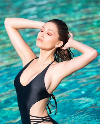 sensual fashion photo by model bou