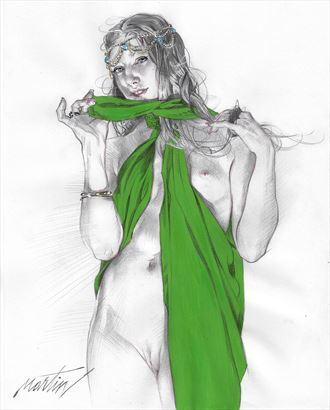 sensual pinup artwork by artist james martin