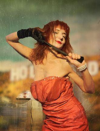 sensual pinup photo by model aural