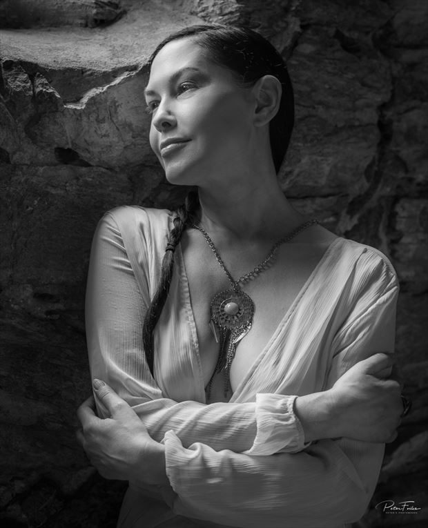 sensual portrait photo by model vox model