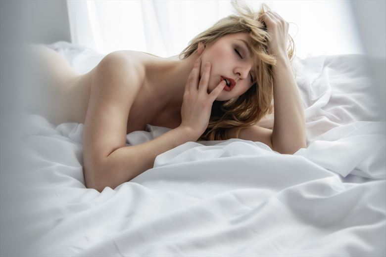 sensuality in the white room artistic nude photo by photographer neilh
