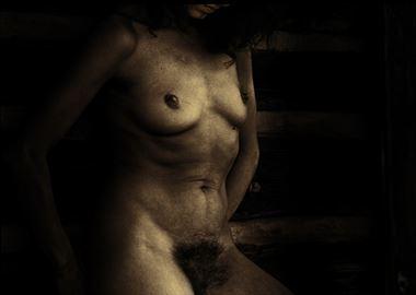 sepia girl artistic nude photo by photographer edwgordon