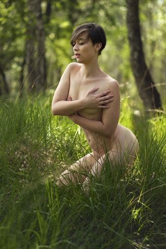 serenity in the forest artistic nude artwork by photographer pegico_art