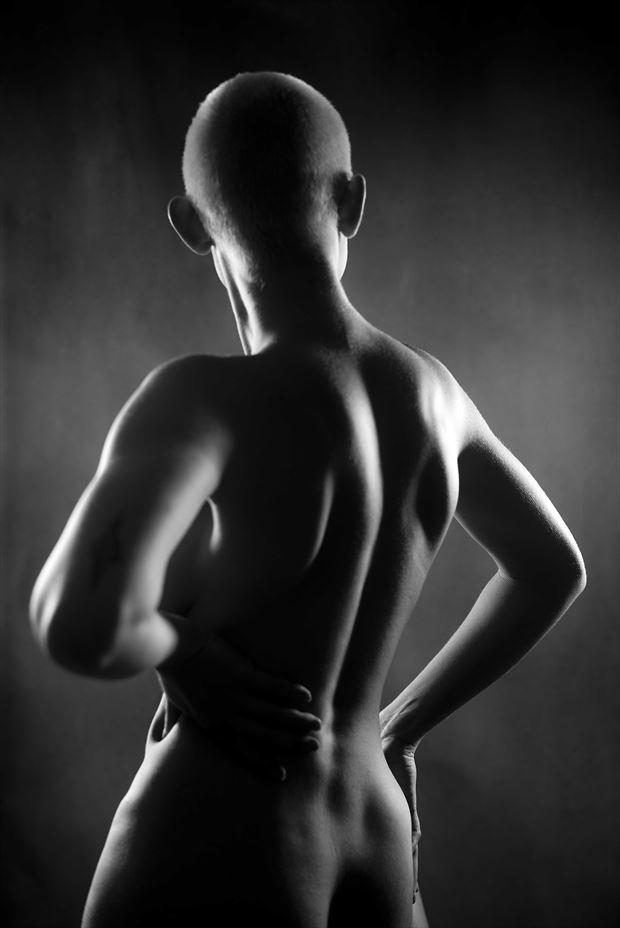 sexy back artistic nude photo by model frostyjulz