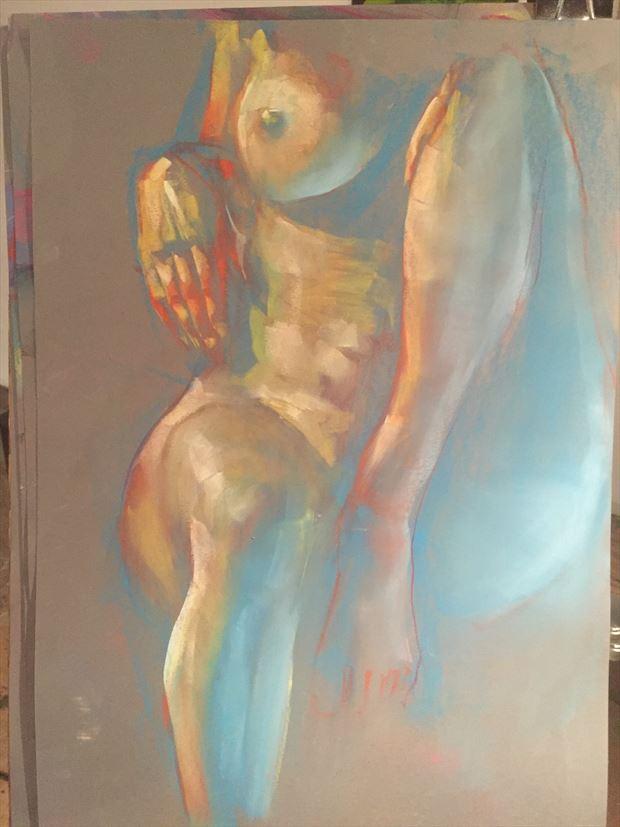 shadia ii seated nude artistic nude artwork by artist t_wayne