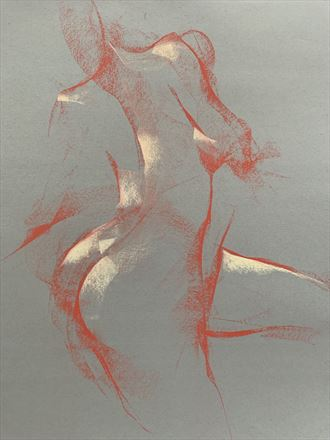 shadia in motion artistic nude artwork by artist t_wayne