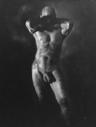 shadow mask artistic nude artwork by artist tai lin