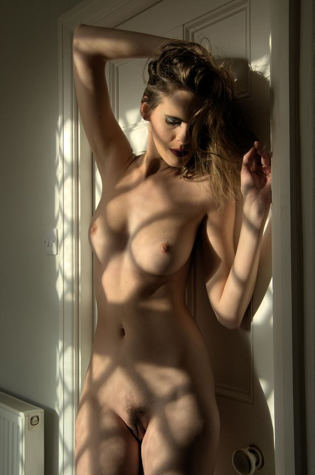 shadow patterns artistic nude photo by photographer russb
