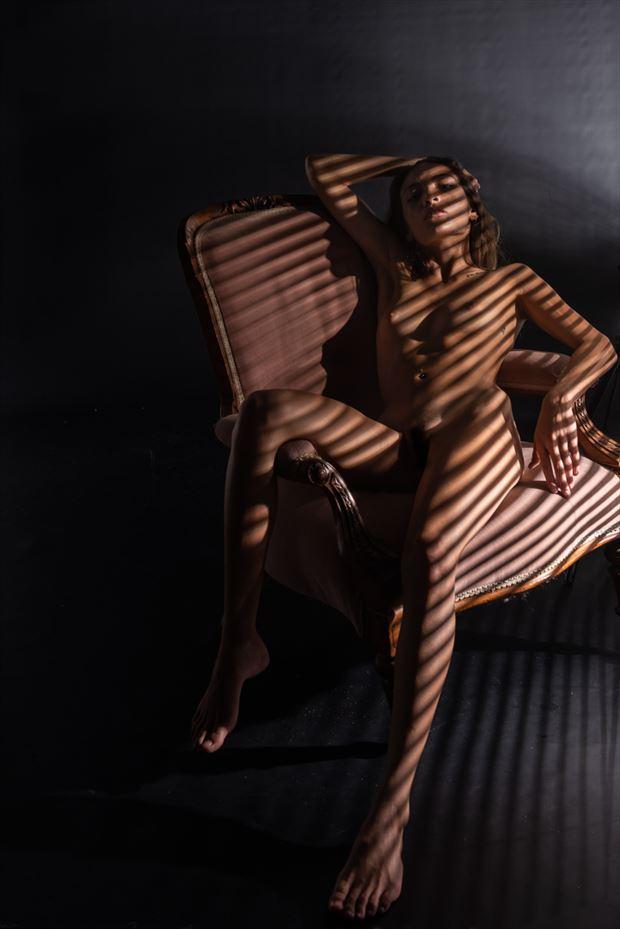 shadow play artistic nude artwork by model lalunagoddess