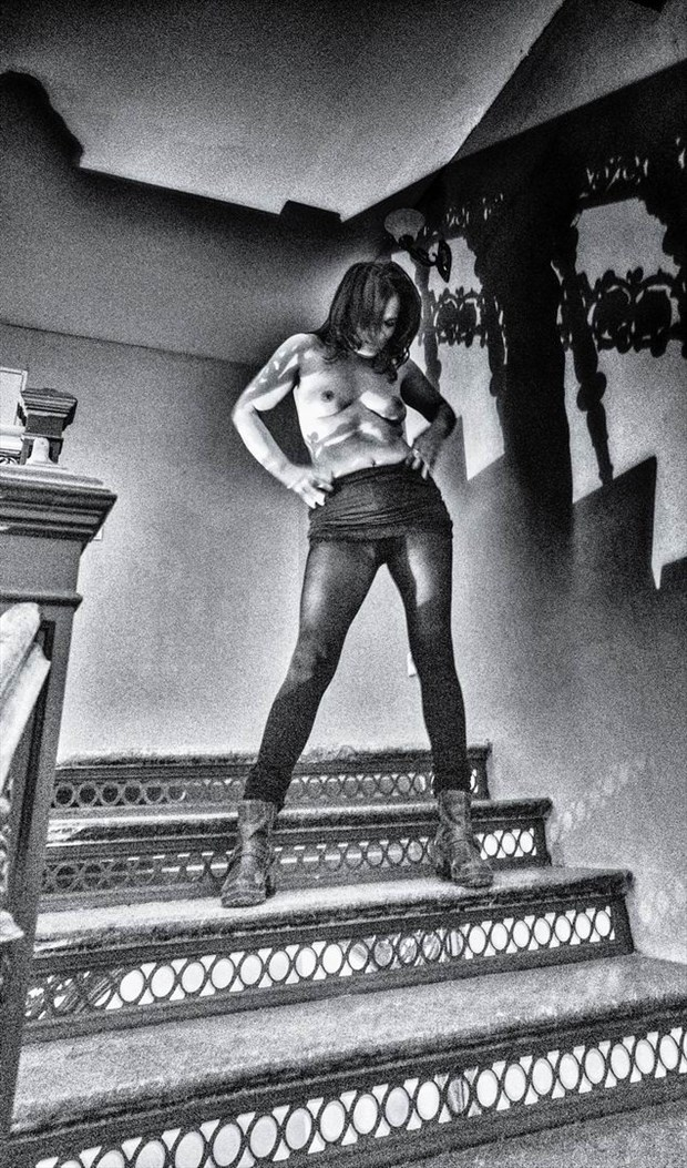 shadowing stairs Artistic Nude Photo by Photographer BenGunn
