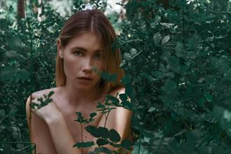 shannon in the forest implied nude photo by photographer jcb