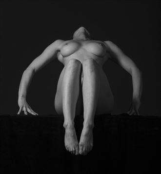 shapes and shadows artistic nude photo by model her stillness dances