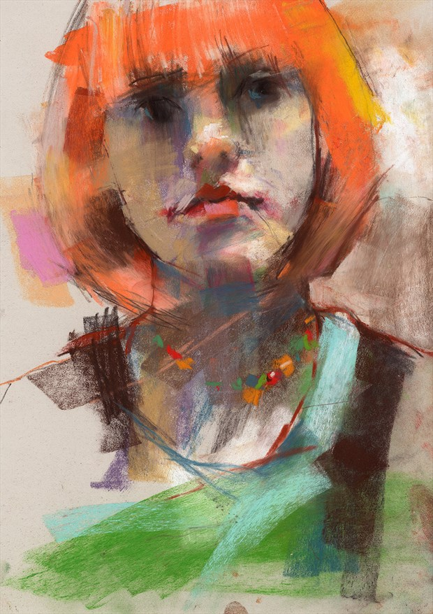 she is a rainbow Painting or Drawing Artwork by Artist JonD