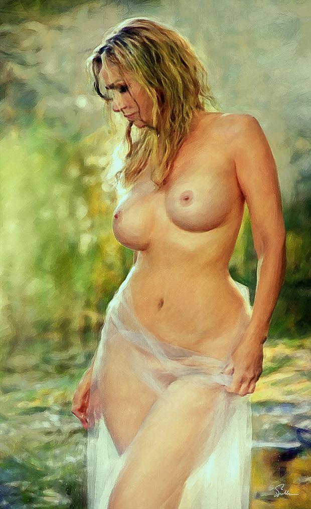 sheer perfection artistic nude artwork by artist van evan fuller