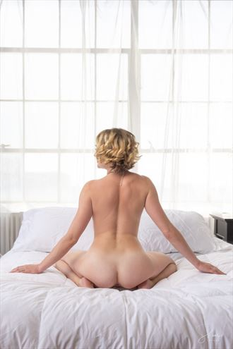 sheets so white and soft artistic nude photo by model cali layne