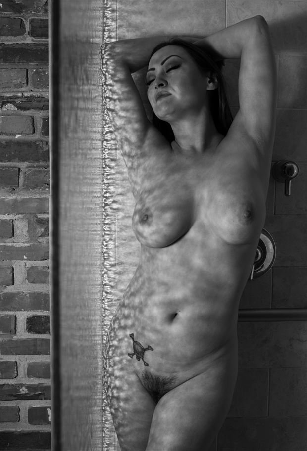 shower glass artistic nude photo by photographer gsphotoguy