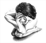shrinking violet artistic nude artwork by artist subhankar biswas
